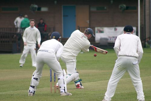 Ash hits out on the on-side...