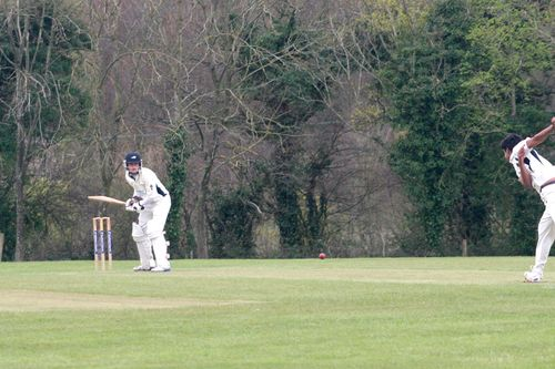 Prad sends down the first over of the innings