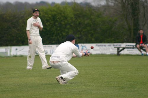 ...but falls to a cheeky catch in the covers